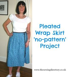 ecde38c2473 Wrap pleated skirt made without a pattern Sewing Patterns Free