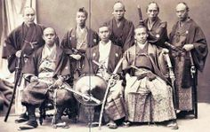 #Japan. A group of samurai. 19th century.