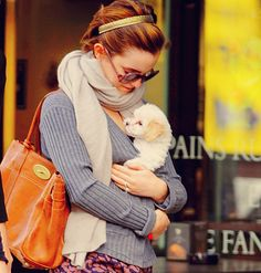 two of my favorite things: Emma and puppy.