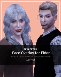 Elder Face Overlay for The Sims 4 by Introsims
