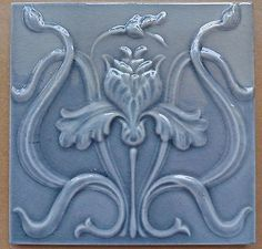 Belgium Hemixem Original antique Pearl Gray tile Art Nouveau Majolica ADD a grouping of antique tiles to a focal point - like back of stove, or behind sink Antique Tiles, Vintage Tile, Antique Art, Vintage Art, Victorian Tiles, Motifs Art Nouveau, Azulejos Art Nouveau, Art Nouveau Tiles, Art Nouveau Design