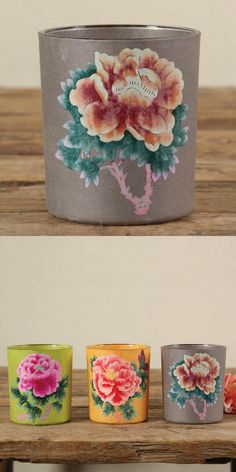 Mexican Peony Votive Cups