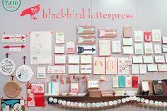 Oh So Beautiful Paper: NYNOW Summer 2013, Part 1 Blackbird Letterpress