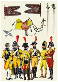 Regimiento de Caballería Dragones de Numancia 1808