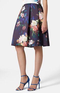 Topshop Blur Rose Print Midi Skirt by Pleated Midi Skirt, Dress Skirt, Dress Up, Look Fashion, Fashion Beauty, Womens Fashion, Estilo Lady Like, Mode Inspiration, Dress To Impress