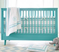 turquoise crib