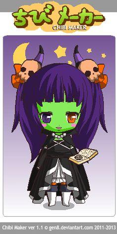 This is a Demon girl Chibi Maker, Demon Girl, Zelda, Fictional Characters, Art, Art Background, Kunst, Fantasy Characters, The Legend Of Zelda