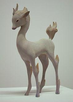 """Wooden Sculpture by Yoshimasa Tsuchiya at """"Private Myth"""" at MEGUMI OGITA GALLERY"""
