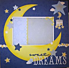 Mark's baby picture Premade Scrapbook Page Sweet Dreams Baby Boy Girl Baby Boy Scrapbook, Album Scrapbook, Baby Scrapbook Pages, Papel Scrapbook, Birthday Scrapbook, Scrapbook Sketches, Scrapbook Page Layouts, Scrapbook Paper Crafts, Scrapbook Stickers
