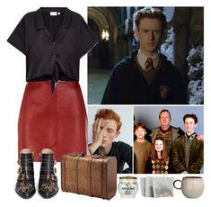 """""""The Weasleys #5 Percy Weasley"""" by leah1992 ❤ liked on Polyvore featuring Sandro, Chloé, Bloomingville, harrypotter, magic, weasley and percyweasley"""