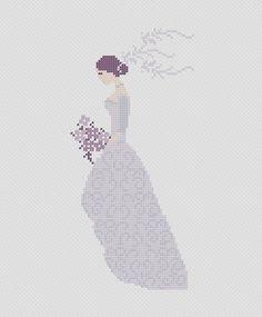 Bride cross stitch pattern