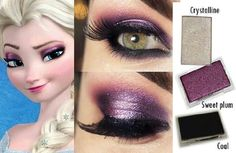 Elsa inspired makeup using Mary Kay mineral eye colors Crystalline, Sweet Plum, & Coal. Disney Inspired Makeup, Disney Makeup, Mary Kay Party, Mary Kay Eyeshadow, Mary Kay Makeup, Mary Kay Cosmetics, Makeup Cosmetics, Maquillage Mary Kay, Frozen Makeup