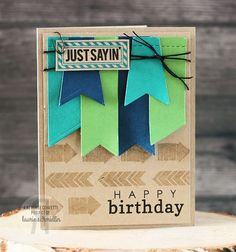 A place to share handmade paper crafts, cards, and gift ideas. Card Tags, I Card, Man Birthday, Birthday Cards, Cute Cards, Easy Cards, Card Making Inspiration, Creative Inspiration, Scrapbook Cards
