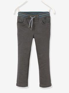 Jungen-Hose Hüftweite REGULAR, Baumwolle - ANTHRAZIT+MARSALA - 1