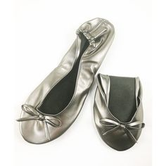 ceb1f41562c5 Women s Foldable Flat Ballet Shoes-Portable Travel Slippers With Matching  Carring Pouch - Grey - CT188WEQX5T