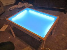 IKEA Hack - the original plan is for a kid's playroom table, but a variation of this would make a great light table for tracing