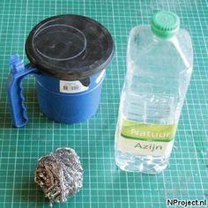 Spullen om hout oud te laten lijken met azijn