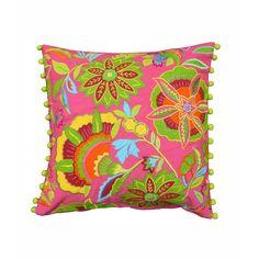 Flora Rosa Throw Pillow Cover | dotandbo.com