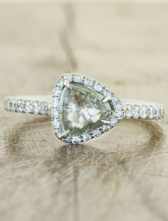 Audrix - Diamond in the Rough - trillion cut with halo accent