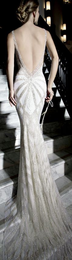 Gahlia Lahav Tales of the Jazz Age:  If I weren't already married and had a body like that and could afford it, this would be my Bridal Gown.  I just love this gown.