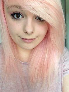 Need to re-dye my hair so it's pastel pink again and not pale peach ☆*:. Peachy Pink Hair, Pastel Pink Hair, Dark Eyebrows, Dye My Hair, Strawberry Blonde, Blue Ombre, Dark Hair, Hair Hacks, Cute Hairstyles