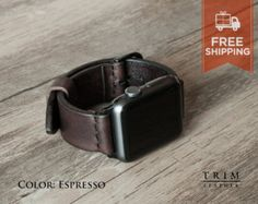 Apple Watch Band Leather Watch Band Minimal in by TRIMleather