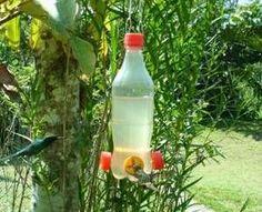 Bebedouro Beija-Flor de garrafa pet - anti formigas e abelhas
