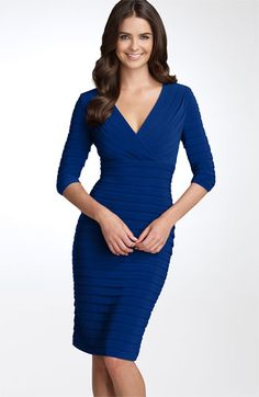 Adrianna Papell Pleated Jersey Sheath Dress   Nordstrom