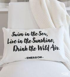 Typography pillow