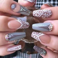 Gorgeous With Fall Nail Art Designs. Glam Nails, Hot Nails, Fancy Nails, Beauty Nails, Fabulous Nails, Gorgeous Nails, Pretty Nails, Nails Decoradas, Modern Nails
