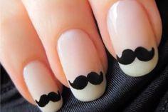 I moustache u if u like these nails Nail Designs Tumblr, Nail Designs Pictures, Acrylic Nail Designs, Gel Nails, Acrylic Nails, Nail Polish, Dark Nails, Moustache Nails, Mustache