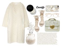 """""""Color of Fashion: Stone White"""" by harperleo ❤ liked on Polyvore featuring Chloé, Universal Lighting and Decor, Pottery Barn, Alexander McQueen, Alexandre Birman, Cutler and Gross, Casetify and Kevyn Aucoin"""