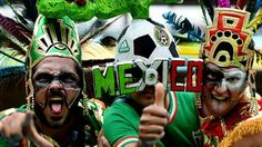 Mexico fans pose
