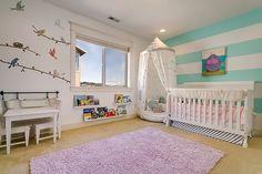 Delightful and bright nursery design