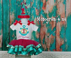 Hey, I found this really awesome Etsy listing at https://www.etsy.com/listing/231560305/nautical-anchor-birthday-tutu-outfit