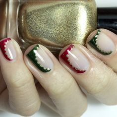 Beauty, Makeup And More: Christmas Nail Art: 20 Beautiful Festive Designs Your Nails Will Love To Flaunt! Xmas Nails, Holiday Nails, Christmas Nails, Love Nails, Pretty Nails, Nail Art 2014, Christmas Nail Art Designs, Christmas Design, Finger