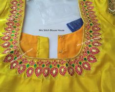 This video explained about How to make Bridal Blouse Design in a professional way with Zardosi work and Kundan Stone Work Designs.