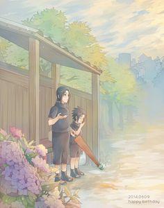 Little Sasuke and Itachi Uchiha