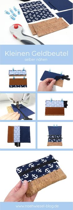 DIY: Sewing Small Purse - Gift Idea for Minimalists - Sewing Weasel Sewing Projects For Beginners, Crochet For Beginners, Knitting Projects, Small Gifts, Great Gifts, Sewing Hacks, Sewing Tutorials, Sewing Tips, Sewing Patterns