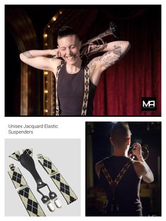 Jacquard suspenders by @hautebutch Model Mack Dihle. Photo by Maria Alejos Photography.   Buy Jacquard suspenders at: https://www.hautebutch.com/shop-2/suspenders/unisex-jacquard-elastic-suspenders/ref/12/