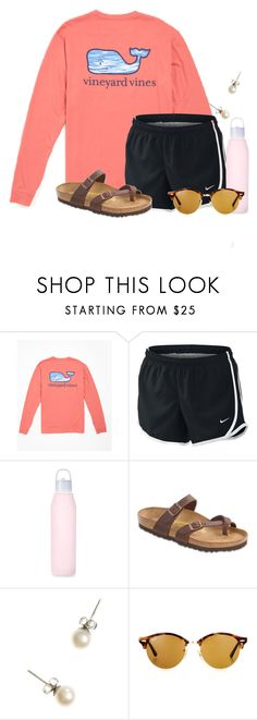"""""""It's time to go to the DOLLA STORE!!✨"""" by flroasburn on Polyvore featuring NIKE, Birkenstock, J.Crew and Ray-Ban"""