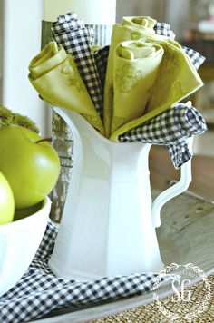 EARLY FALL AND GREEN APPLES… A KITCHEN VIGNETTE