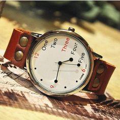 Stan vintage watches — Men's Women's Vintage Leather Wrist Watch (WAT0022-White)