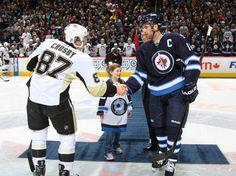 Sidney Crosby February 15 2013 Pittsburgh Penguins vs. Winnipeg Jets