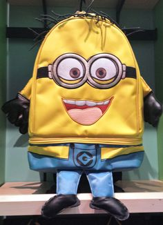 Despicable Me Two Eyed Minion Body Yellow Backpack Bag NEW - Bags & Backpacks