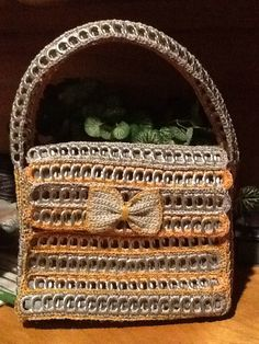 Gold and silver soda tab purse