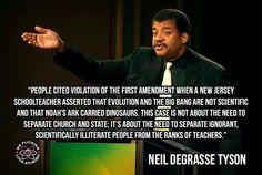 """""""People cited violation of the First Amendment when a New Jersey schoolteacher…"""