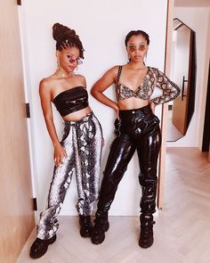 Snake Print and Patent Leather chloe x halle Afro Punk, My Black Is Beautiful, Beautiful People, Black Girl Magic, Black Girls, Chloe Halle, Facon, Fashion Outfits, Womens Fashion