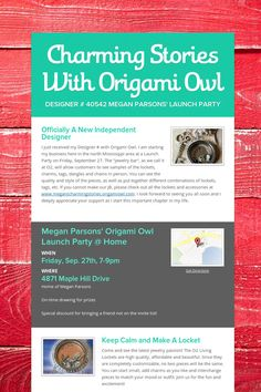 Charming Stories With Origami Owl