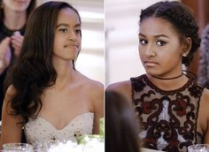 Malia and Sasha Obama Look All Grown Up at Their First State Dinner